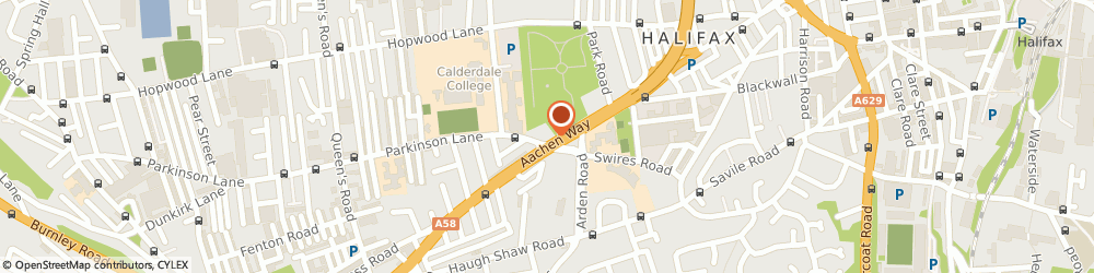Route/map/directions to Wingtex Limited, HX1 1EB Halifax, WEST HOUSE, KING CROSS ROAD