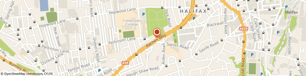 Route/map/directions to RENEWABLE ENERGY STORE LTD, HX1 1EB Halifax, West House Kings Cross Road