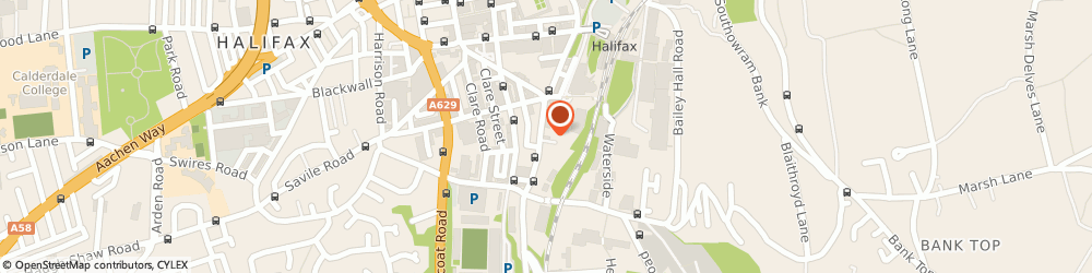 Route/map/directions to South Parade Car Dismantlers, HX1 2LX Halifax, 1A South Parade