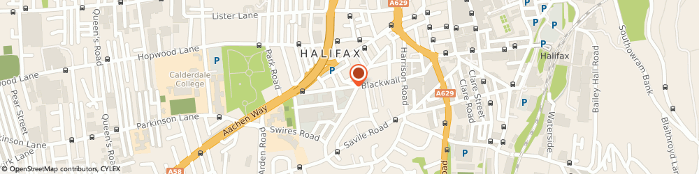 Route/map/directions to t P e, HX1 2TE Halifax, UNIT 5 WEST PARADE