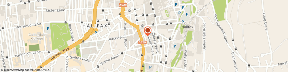 Route/map/directions to Cafe Passion, HX1 2JF Halifax, 2 Coleridge St
