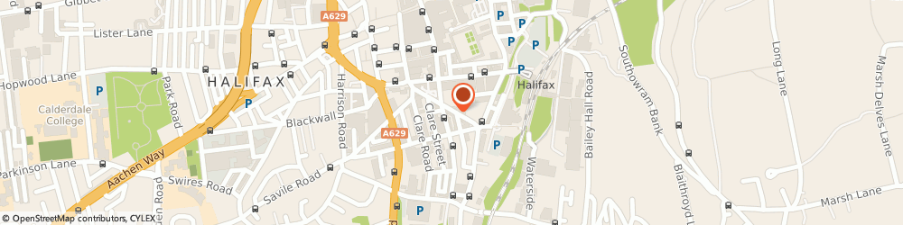 Route/map/directions to Ace Motor Factors, HX1 2LH Halifax, 13 New Rd
