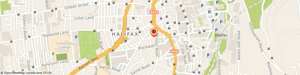 Route/map/directions to Provident Insurance PLC, HX1 2PZ Halifax, HALIFAX HOUSE, FERGUSON STREET