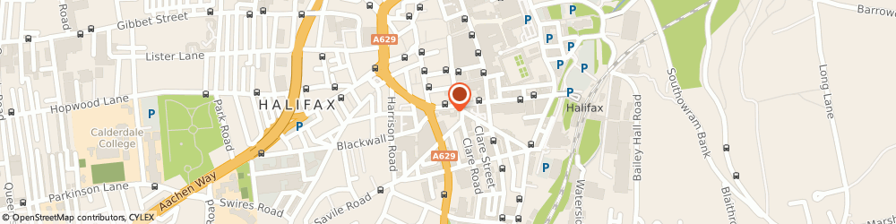 Route/map/directions to A1 Ziggys Cars, HX1 1BX Halifax, 7-8 Ward's End