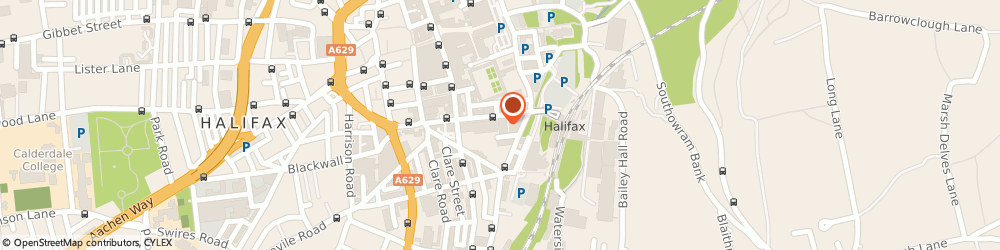 Route/map/directions to Cycle Gear, HX1 1QE Halifax, 68 Horton St