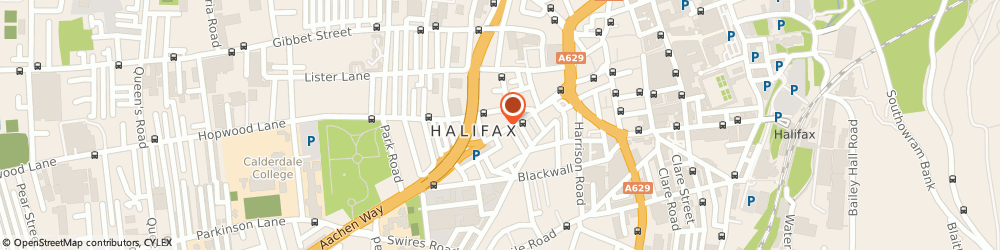 Route/map/directions to Beehive & Cross Keys Inn, HX1 2SH Halifax, 31-33 King Cross Road