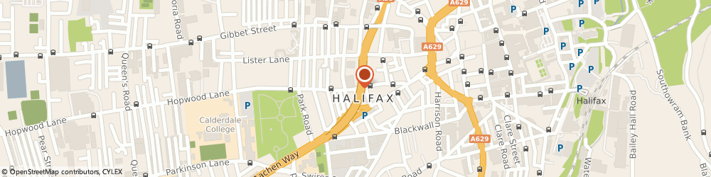 Route/map/directions to Mount Cars, HX1 2TH Halifax, New Bond Street, Halifax