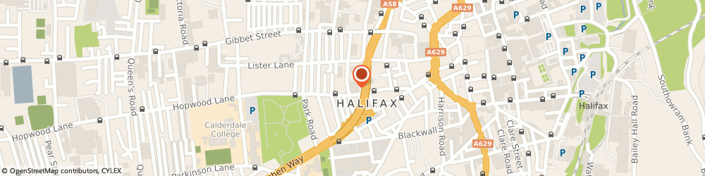 Route/map/directions to Crown Roofing Services, HX1 5ER Halifax, Elsie Whiteley Innovation Centre Ho