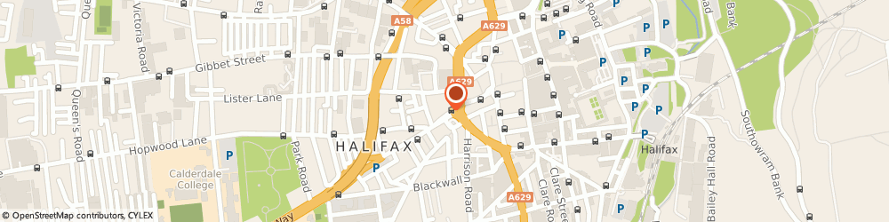 Route/map/directions to The Salvation, HX1 5AB Halifax, 12 BULL GREEN