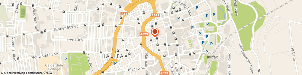 Route/map/directions to Co-Operative Insurance Society Ltd, HX1 1HF Halifax, DISTRICT BANK CHAMBERS, 1-3 GEORGE SQUARE