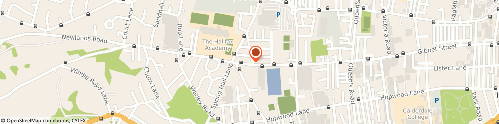 Route/map/directions to Pellon Private Hire, HX1 4JQ Halifax, 11 GIBBET STREET