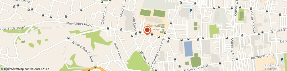 Route/map/directions to A A R COMMERCIAL LTD, HX2 0AX Halifax, HAMNETT HOUSE, GIBBET STREET