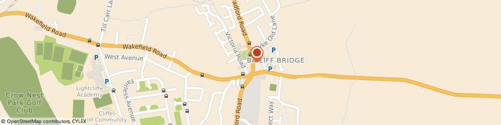 Route/map/directions to McField Residential Ltd, HD6 4DY Brighouse, 647 Bradford Rd