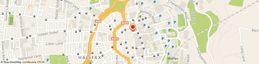 Route/map/directions to Upper George Hotel, HX1 1TT Halifax, 35 Crown Street
