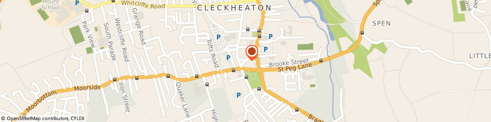 Route/map/directions to ROWLANDS PHARMACY, BD19 5AJ Cleckheaton, 26 Market Street