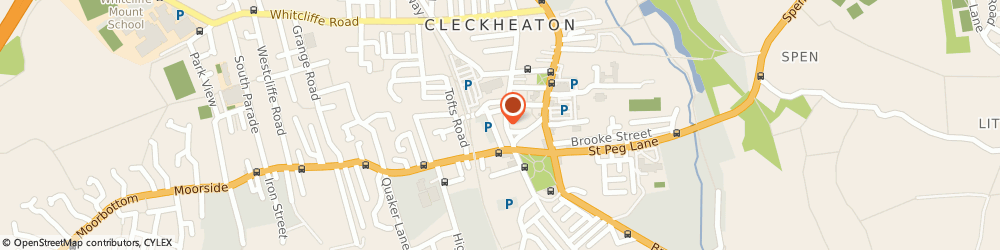 Route/map/directions to Dry Cleaning for you, BD19 3HH Cleckheaton, 13 Northgate