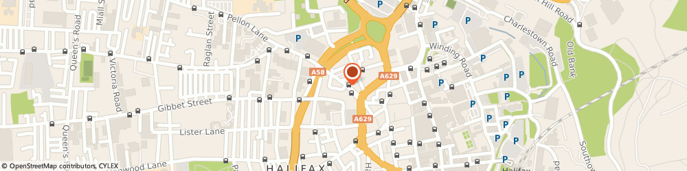 Route/map/directions to Red Web Marketing Limited, HX1 5SP Halifax, EQUITABLE HOUSE, 55 PELLON LANE
