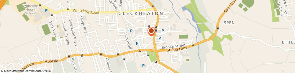 Route/map/directions to The Royal Society for the Prevention of Cruelty to Animals (RSPCA) CLECKHEATON, BD19 5AF Cleckheaton, 19 Cheapside