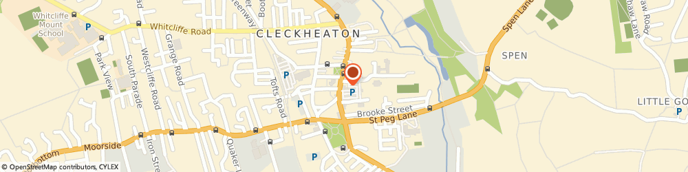 Route/map/directions to Yorkshire Bank, BD19 3RJ Cleckheaton, 12 Bradford Road