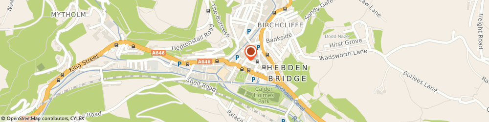 Route/map/directions to Hui Man, HX7 8EH Hebden Bridge, 5 Crown St