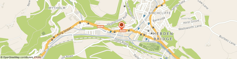 Route/map/directions to A.S.H Plumbing and Heating, HX7 6AJ Hebden Bridge, 8 BRUNSWICK STREET