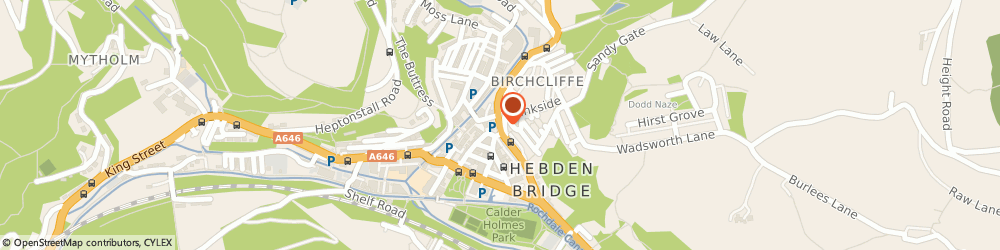 Route/map/directions to The White Lion Fisheries, HX7 8EU Hebden Bridge, 6, HOLLINS PLACE