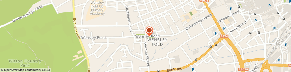 Route/map/directions to United Alarms, BB2 6SS Blackburn, 198 Wensley Rd