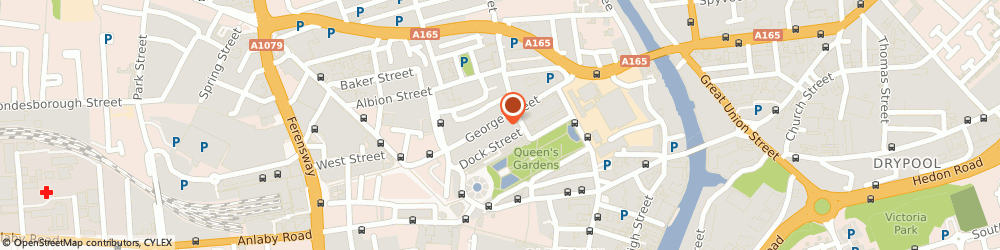 Route/map/directions to Cut-Inn Barbers, HU1 3AB Hull, 78 George Street
