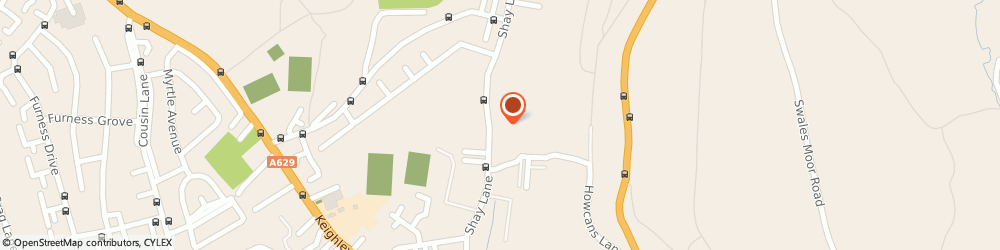 Route/map/directions to Pay Broadbent Ltd, HX3 6RS Halifax, Unit 4 Holmfield Works, Shay Lane