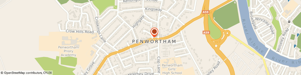Route/map/directions to Complementary Health Centre, PR1 0DQ Preston, 30a Liverpool Rd