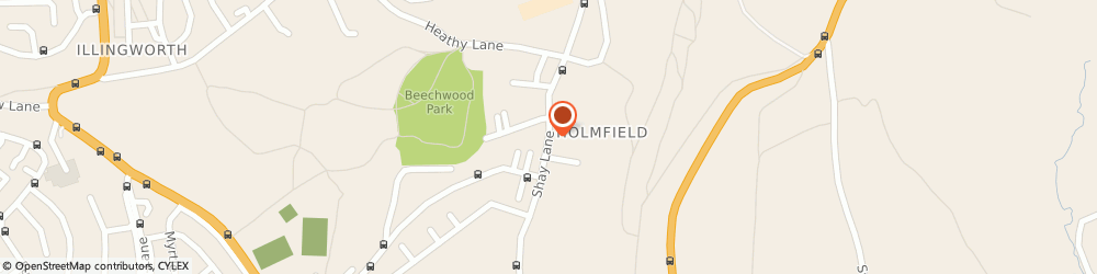 Route/map/directions to Holmfield Fisheries, HX2 9AG Halifax, 255 Shay Ln
