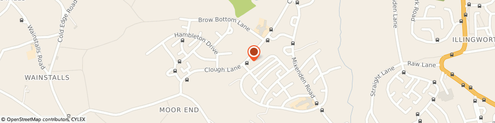 Route/map/directions to Mixenden Fisheries, HX2 8SW Halifax, 44 Clough Lane