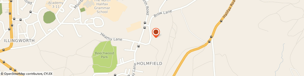 Route/map/directions to Thornton Breakers, HX3 6SN Halifax, The Sidings, Holdsworth Road