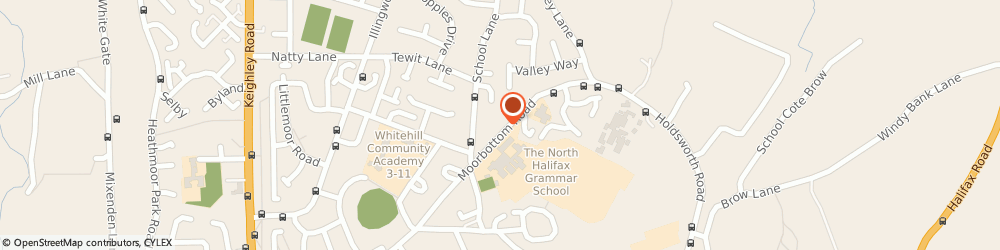 Route/map/directions to Holmfield School Of Motoring, HX2 9ST Halifax, 87 Moorbottom Rd