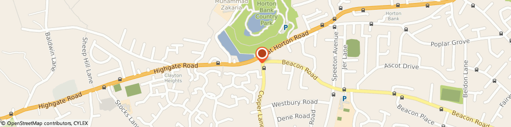 Route/map/directions to Costcutter, BD7 4LT Bradford, Hare and Hounds 1081 Great Horton Road
