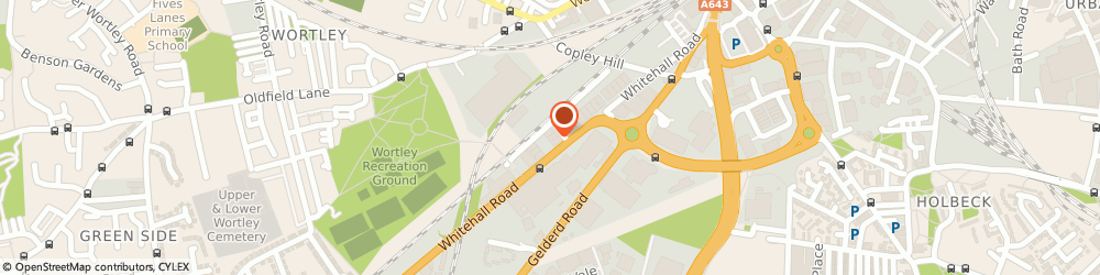 Route/map/directions to Drain Center, LS12 1HE Leeds, Unit F5, Copley Hill Trading Estate