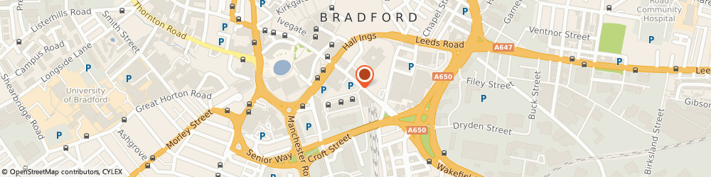 Route/map/directions to Greggs Bakery Bradford, BD1 1TU Bradford, 1 The Interchange