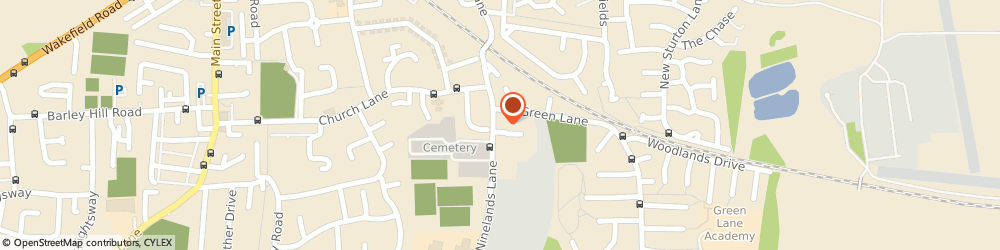 Route/map/directions to PIZZA KITCHEN & BAR The Podger, LS25 1NT Garforth, Ninelands Lane