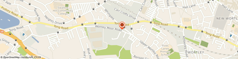 Route/map/directions to Travis Perkins, LS12 4NL Leeds, Wortley Moor Road