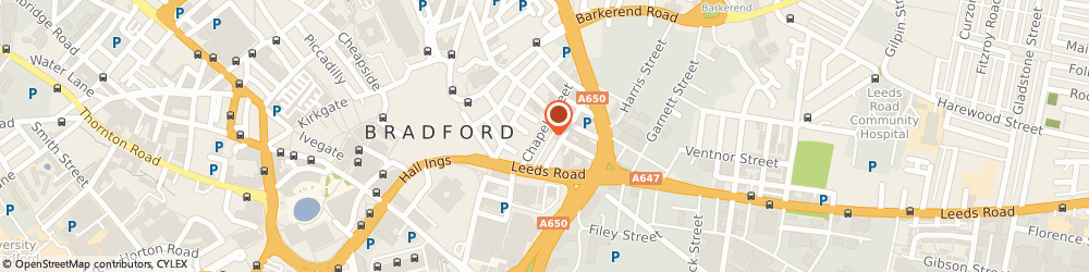 Route/map/directions to Kim Ross-bain, BD1 5DN Bradford, 40 CHAPEL STREET, HANOVER HOUSE