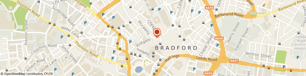 Route/map/directions to The Royal Society for the Prevention of Cruelty to Animals (RSPCA) BRADFORD, BD1 3ND Bradford, 1 Piccadilly