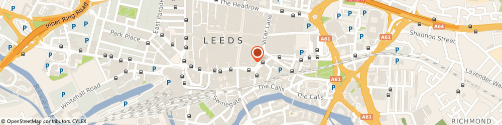 Route/map/directions to Greggs Bakery Leeds, LS1 6DX Leeds, Unit 7 Central Arcade