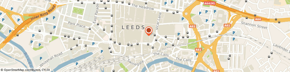 Route/map/directions to David Clulow Opticians, LS1 6BR Leeds, 140 – 142 Briggate