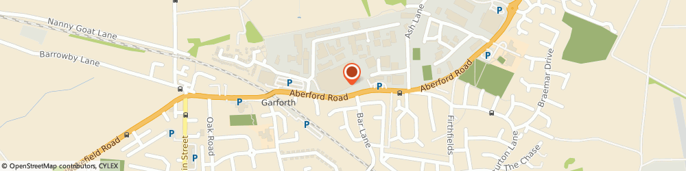 Route/map/directions to Fly Line Garforth, LS25 2EA Garforth, Aberford Road