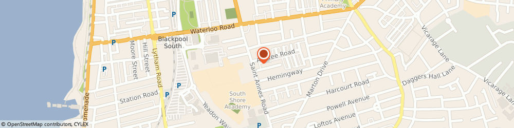 Route/map/directions to Bloomfield Wine & Convenience Store, FY4 2AS Blackpool, 56A, ST. ANNES ROAD