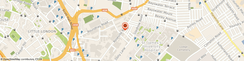 Route/map/directions to P G I, LS8 5DT Leeds, Unit 5 Roseville Road