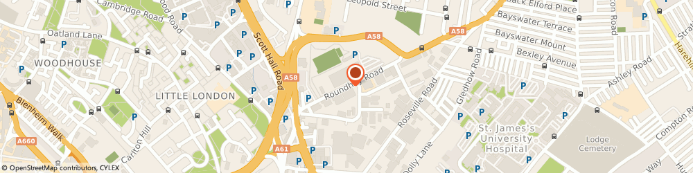 Route/map/directions to Instyle Textiles Ltd, LS7 1AB Leeds, 26 ROUNDHAY ROAD