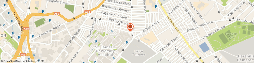 Route/map/directions to The Probation Service, LS8 5NZ Leeds, 15 BEXLEY RD