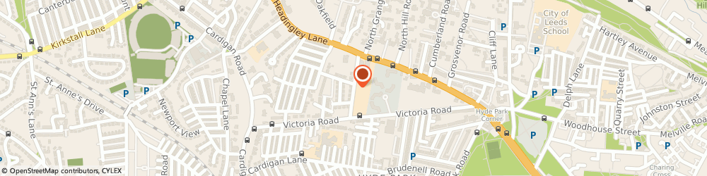 Route/map/directions to Land Sciences Translations, LS6 1BP Leeds, 15 BUCKINGHAM ROAD