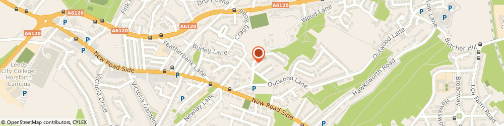 Route/map/directions to Louise Rivers, LS18 4RW Horsforth, 1 Craggwood Rd